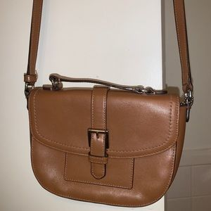 Coach small brown leather crossbody
